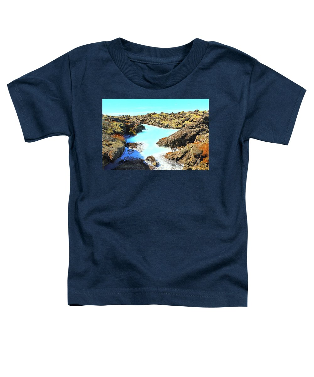 Iceland Toddler T-Shirt featuring the photograph Iceland Blue Lagoon Healing Waters by Betsy Knapp