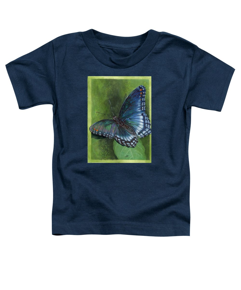 Insects Toddler T-Shirt featuring the mixed media Jewel Tones by Barbara Keith