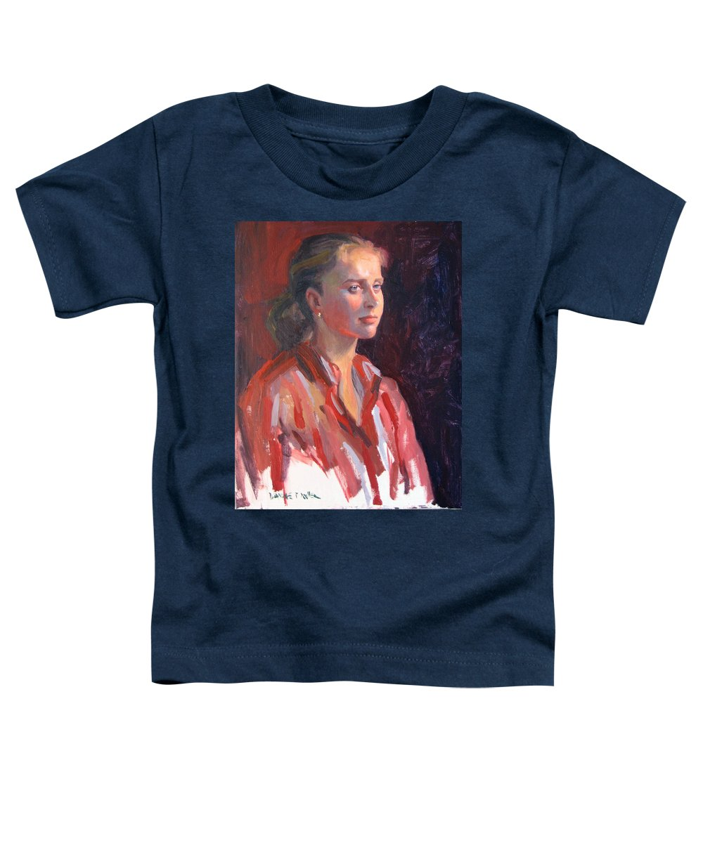 Portrait Toddler T-Shirt featuring the painting Kate by Dianne Panarelli Miller