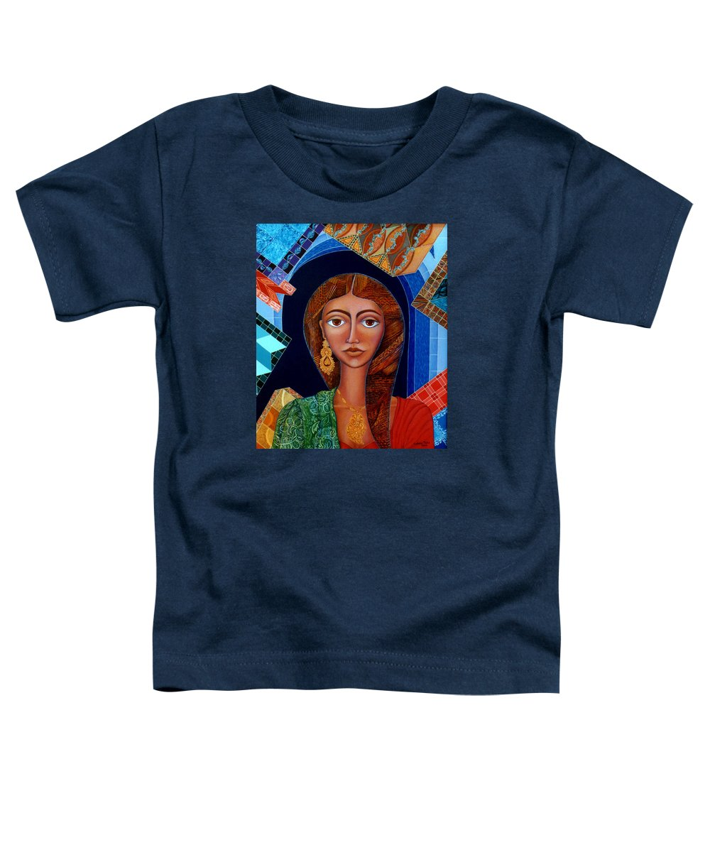 Painting Toddler T-Shirt featuring the painting Labyrinth Of Memoirs by Madalena Lobao-Tello