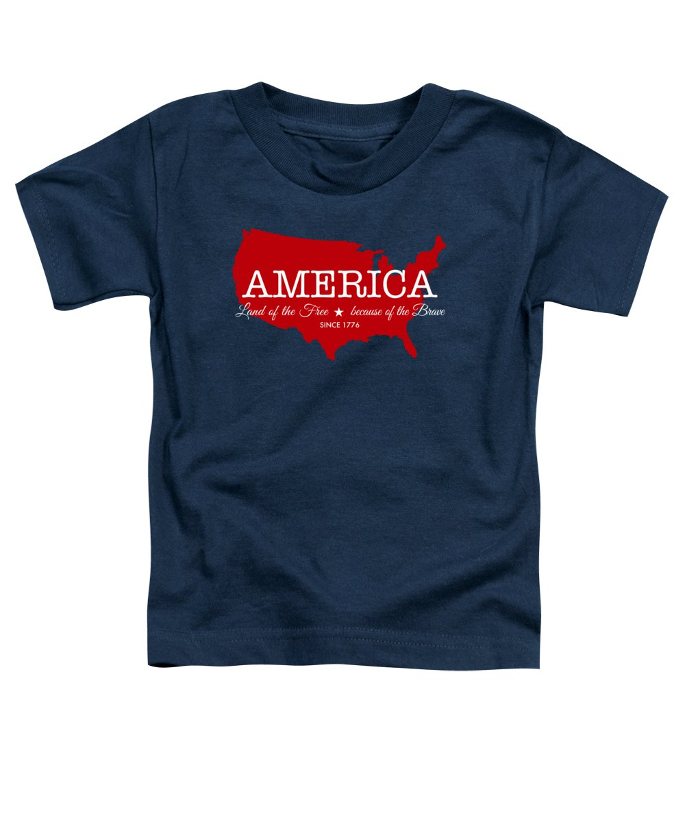 State Map Digital Art Toddler T-Shirts