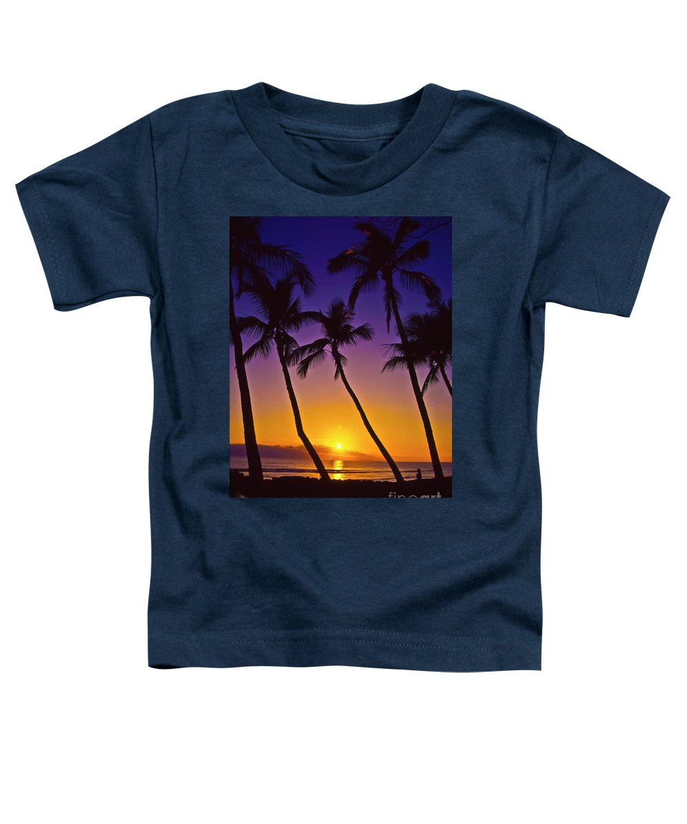 Sunset Toddler T-Shirt featuring the photograph Launiupoko Sunset by Jim Cazel