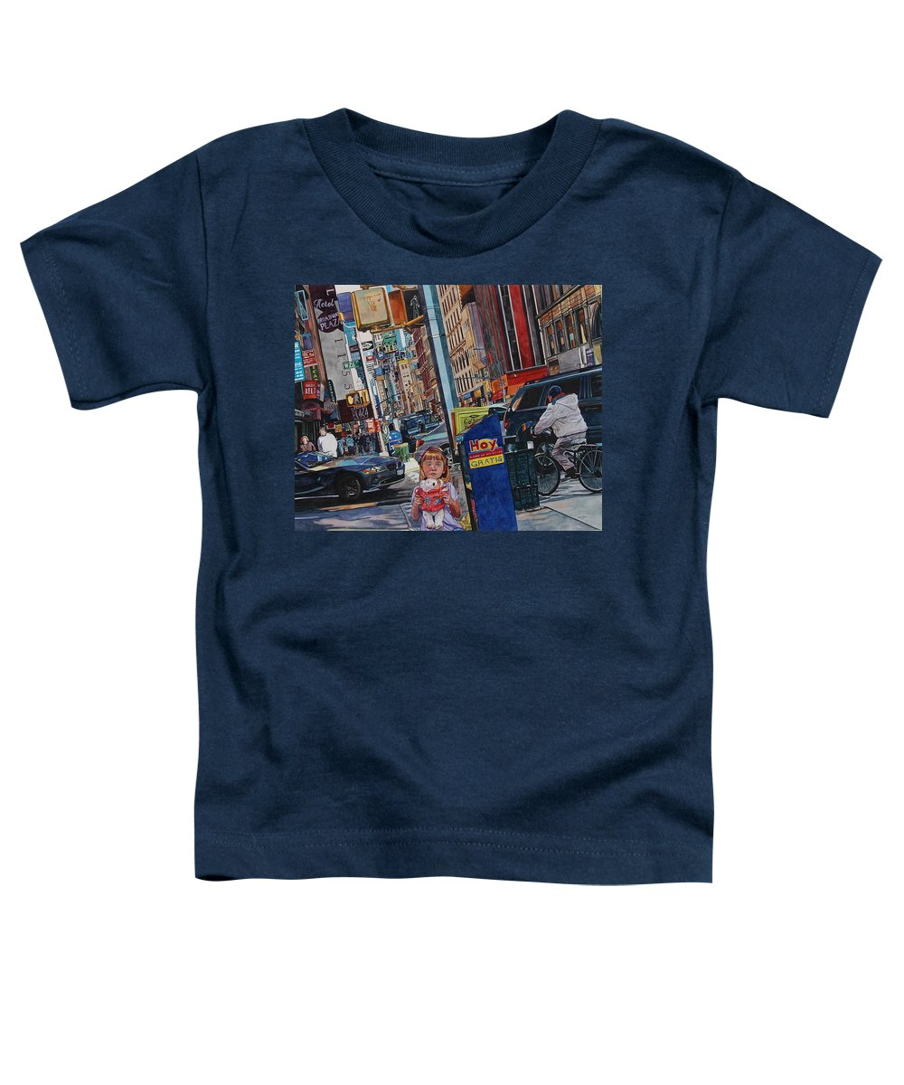 City Toddler T-Shirt featuring the painting Lost by Valerie Patterson