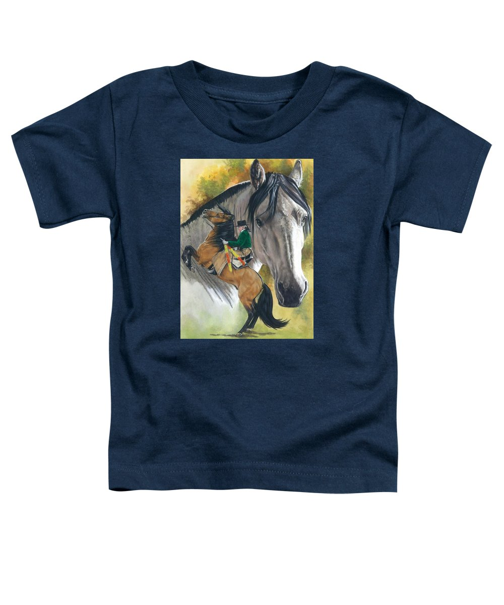Hoof Stock Toddler T-Shirt featuring the mixed media Lusitano by Barbara Keith