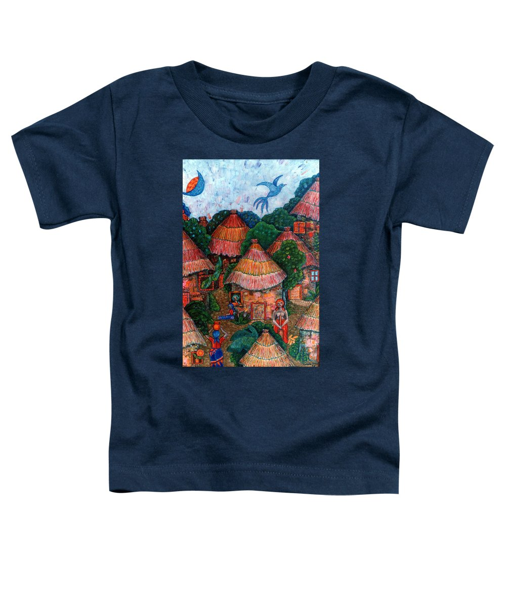 Africa Toddler T-Shirt featuring the painting Maybe That Was My Country by Madalena Lobao-Tello