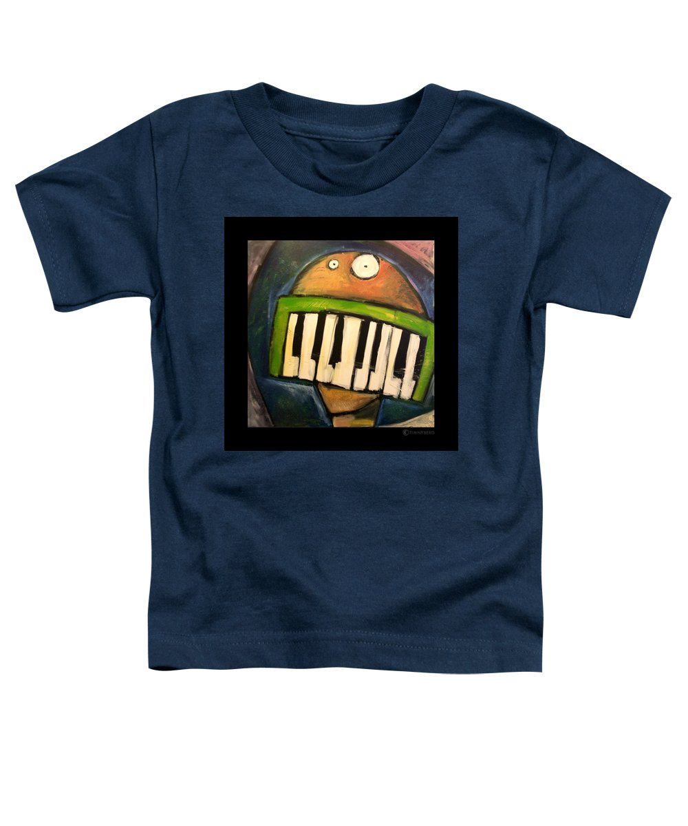 Funny Toddler T-Shirt featuring the painting Melodica Mouth by Tim Nyberg