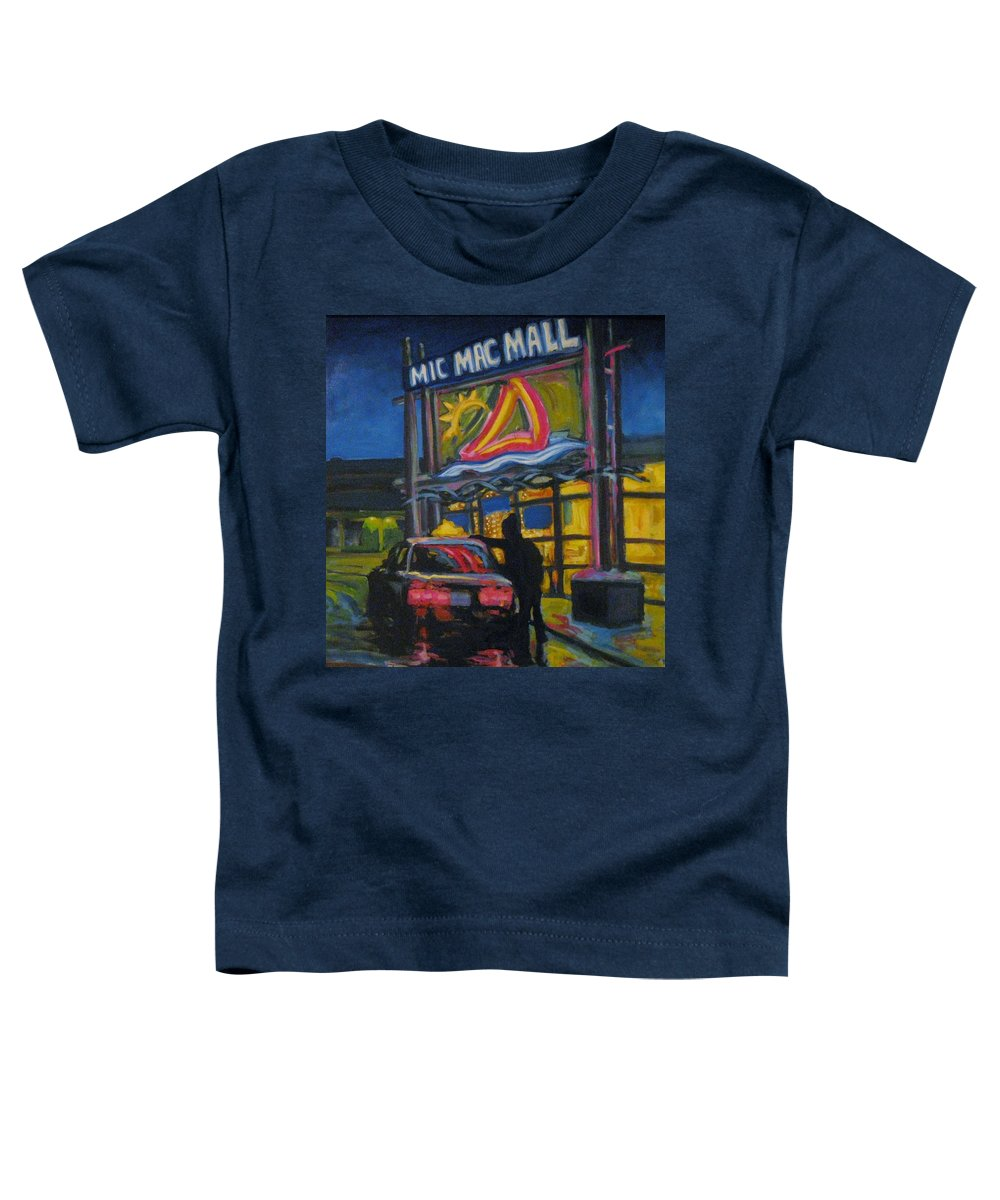 Retail Toddler T-Shirt featuring the painting Mic Mac Mall Spectre Of The Next Great Depression by John Malone