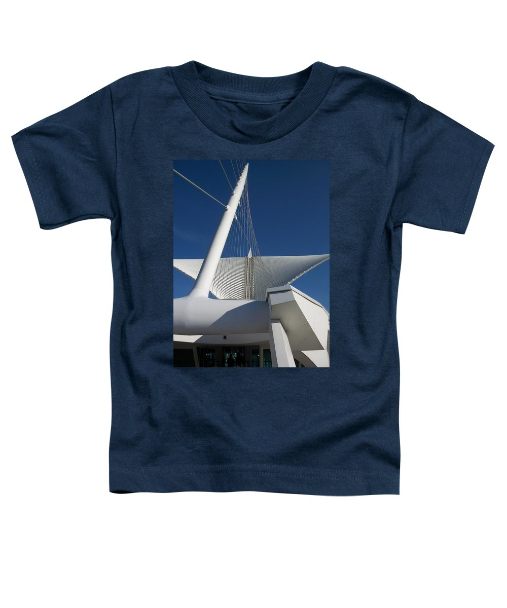 Mam Toddler T-Shirt featuring the photograph Milwaukee Art Museum Cropped by Anita Burgermeister