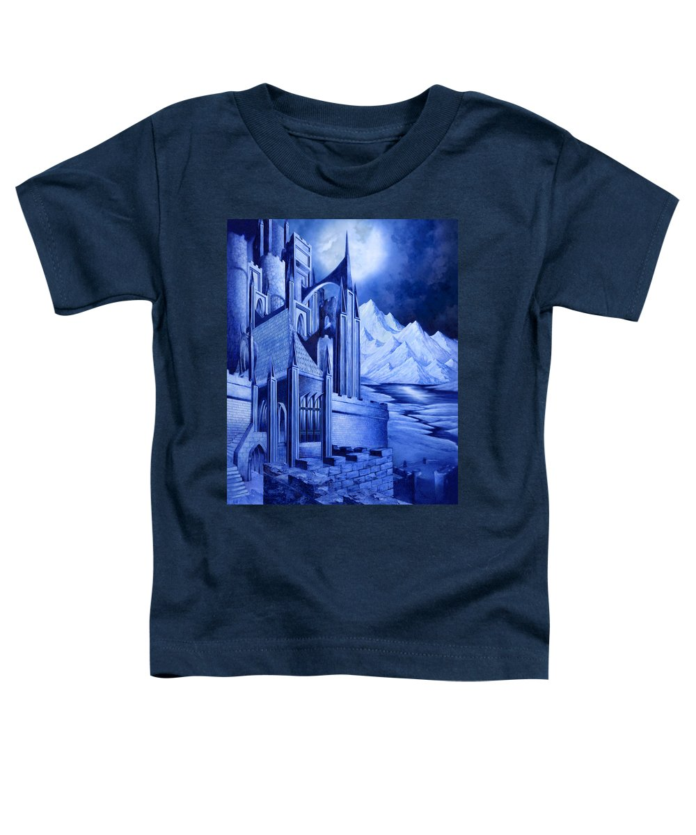 Lord Of The Rings Toddler T-Shirt featuring the mixed media Minas Tirith by Curtiss Shaffer