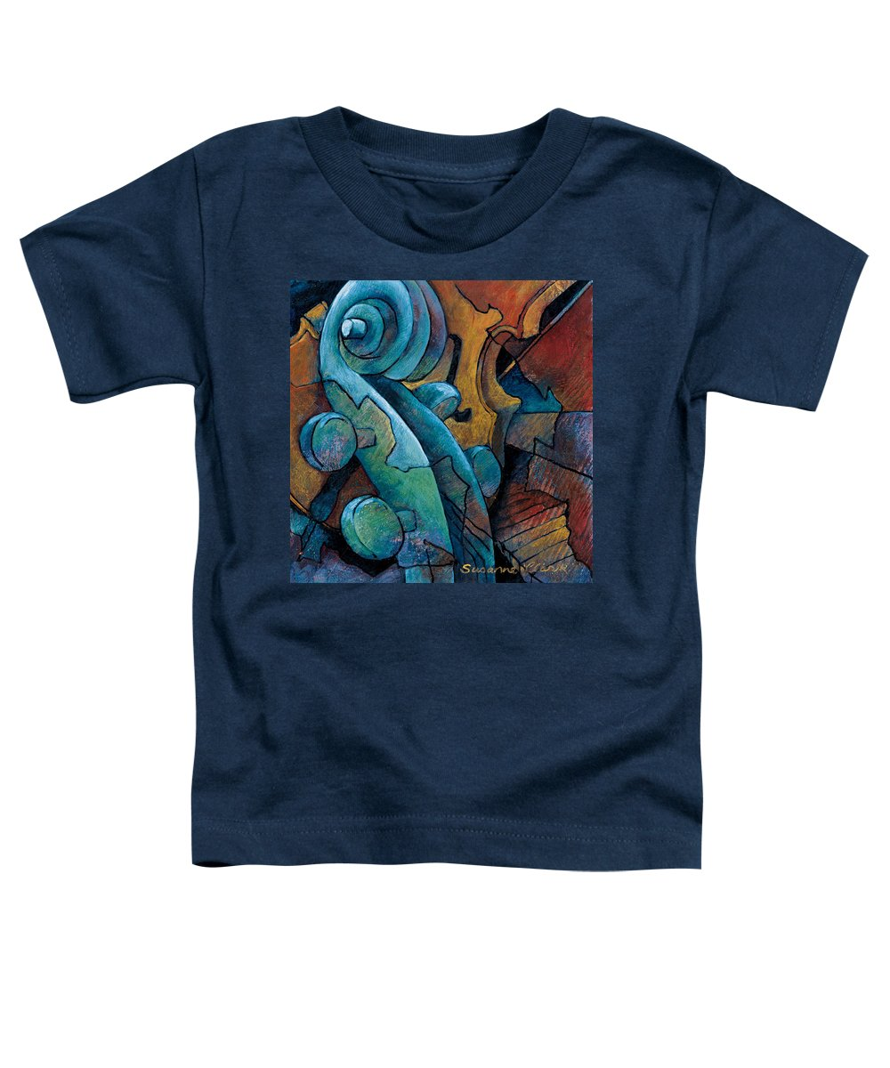 Cello Artwork Toddler T-Shirt featuring the painting Moody Blues by Susanne Clark