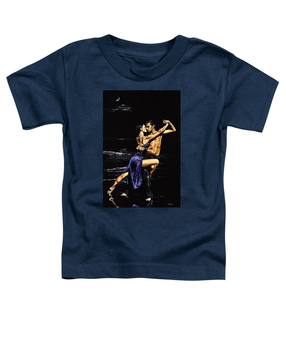Moonlight Toddler T-Shirt featuring the painting Moonlight Tango by Richard Young