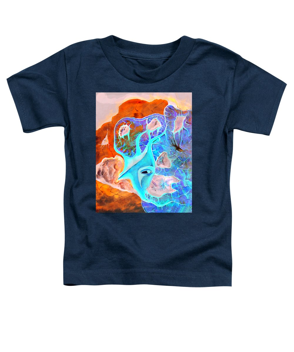 Surrealism Color Sky Haven Stones Toddler T-Shirt featuring the painting More Seconds In My Head by Veronica Jackson