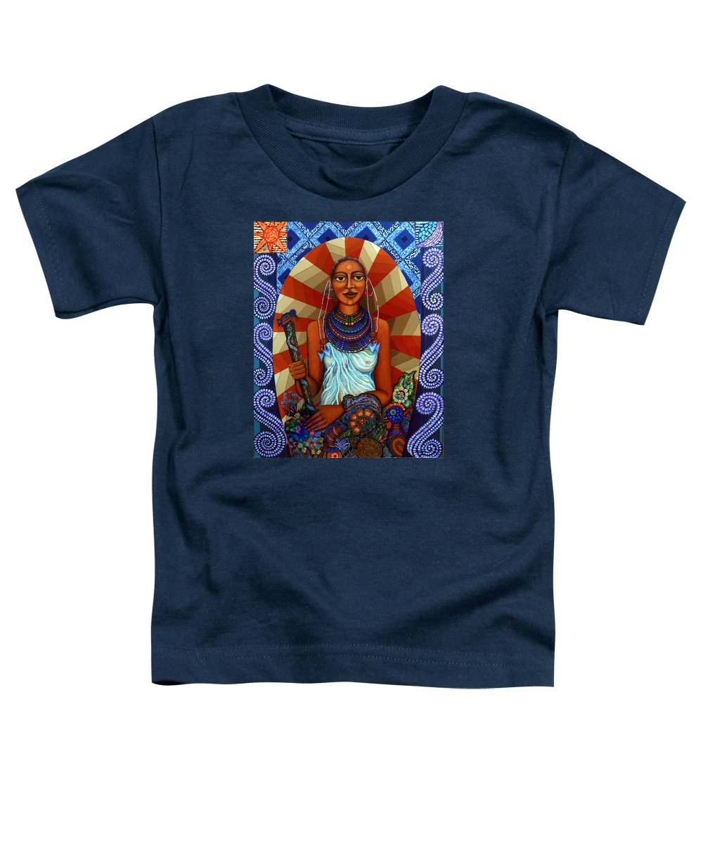 Mother Earth Toddler T-Shirt featuring the painting Mother Earth by Madalena Lobao-Tello