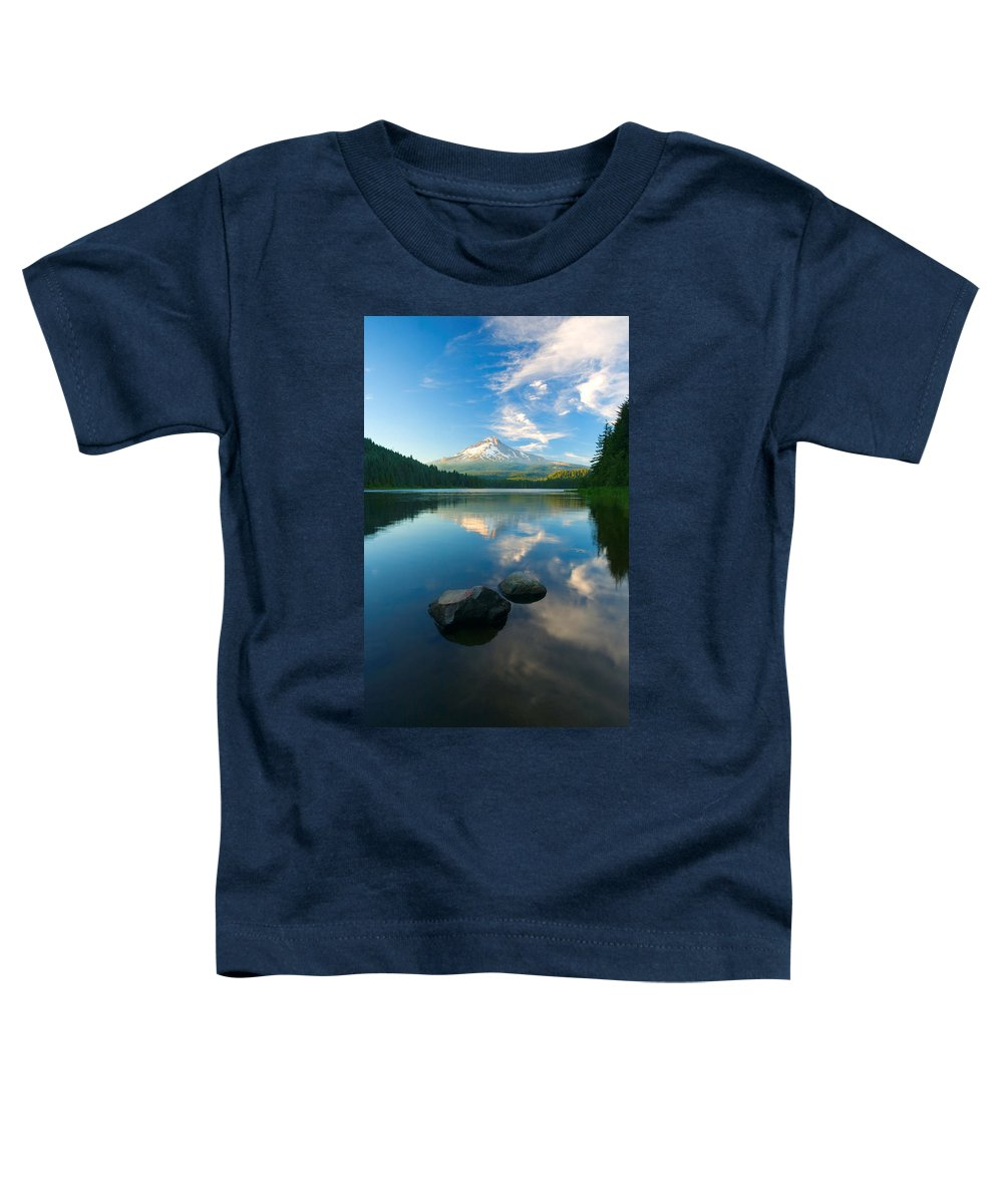 Mt. Hood Toddler T-Shirt featuring the photograph Mt. Hood Cirrus Explosion by Mike Dawson