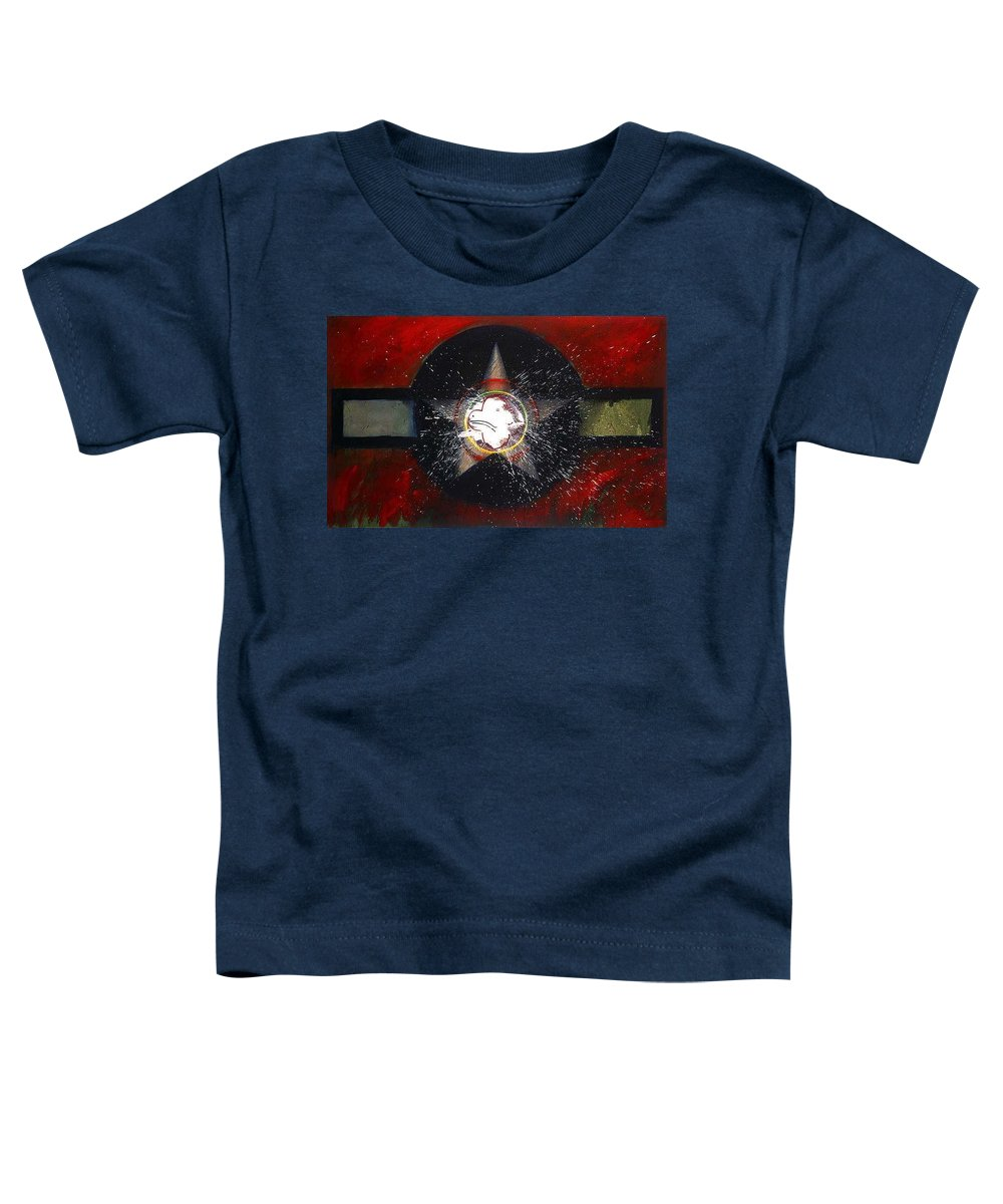 Usaaf Insignia Toddler T-Shirt featuring the painting My Indian Red by Charles Stuart