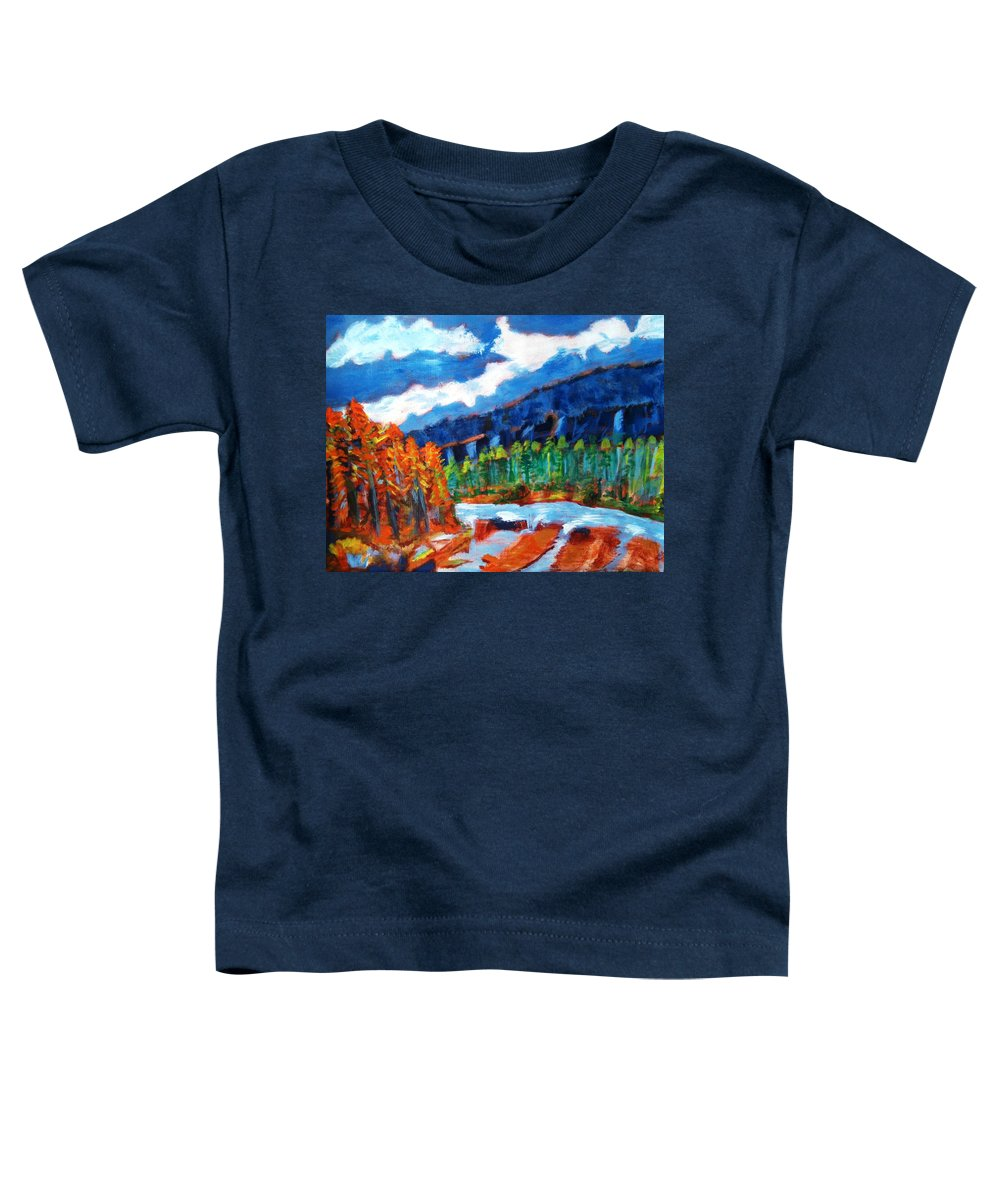 Mountains Toddler T-Shirt featuring the painting Naturals by R B