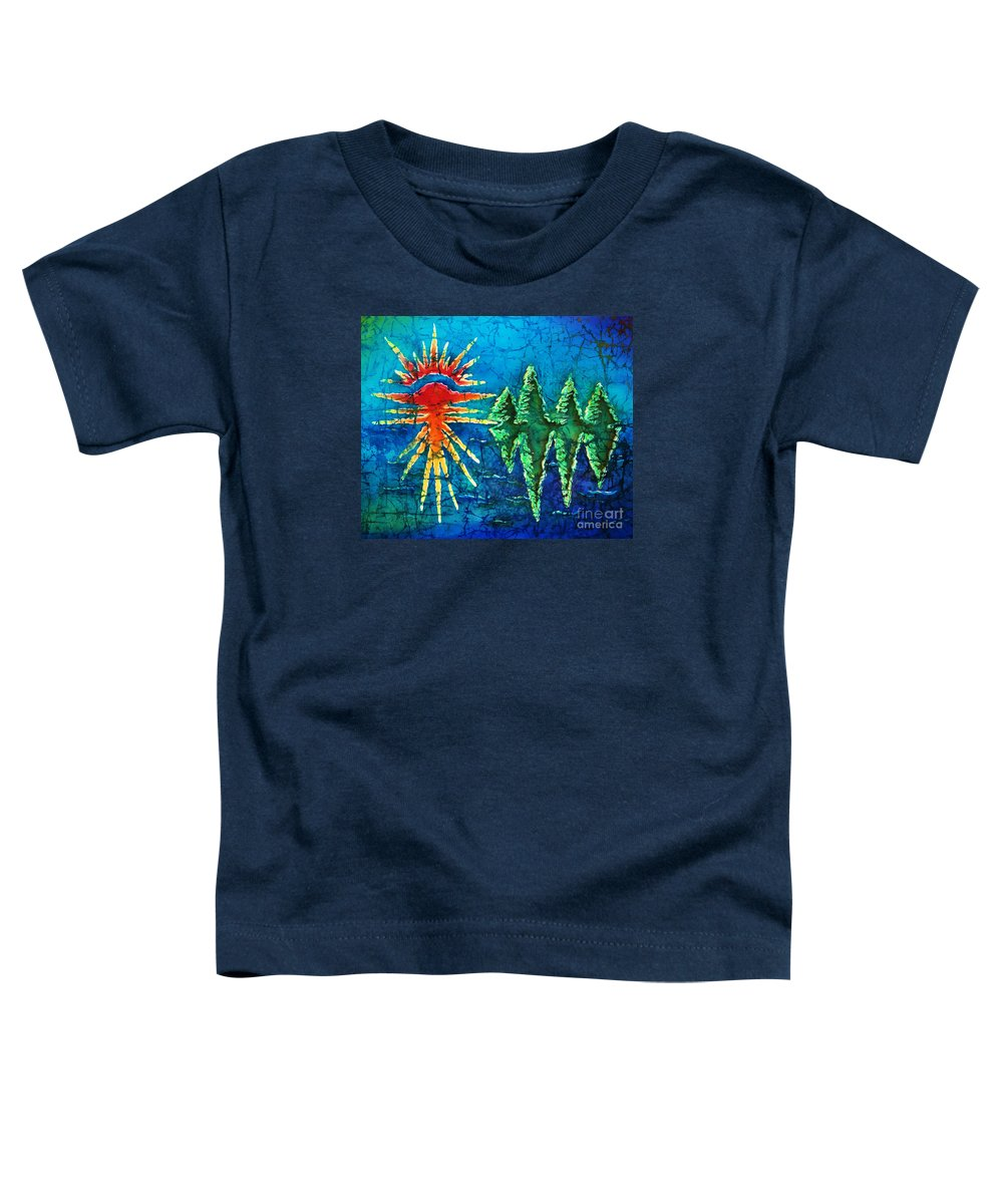 Trees Toddler T-Shirt featuring the painting Nature by Sue Duda