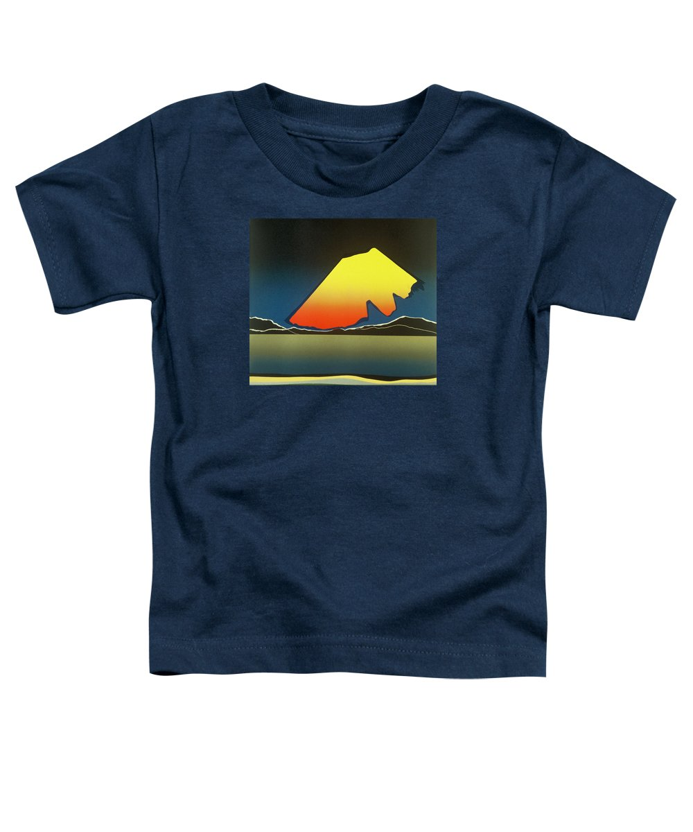 Landscape Toddler T-Shirt featuring the mixed media Northern Light. by Jarle Rosseland