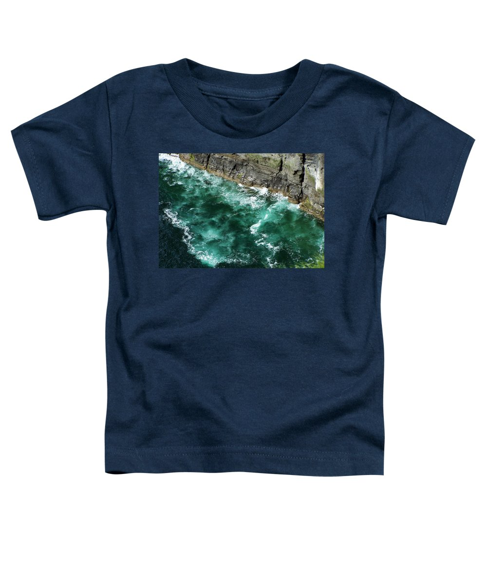 Irish Toddler T-Shirt featuring the photograph Nowhere To Go Cliffs Of Moher Ireland by Teresa Mucha