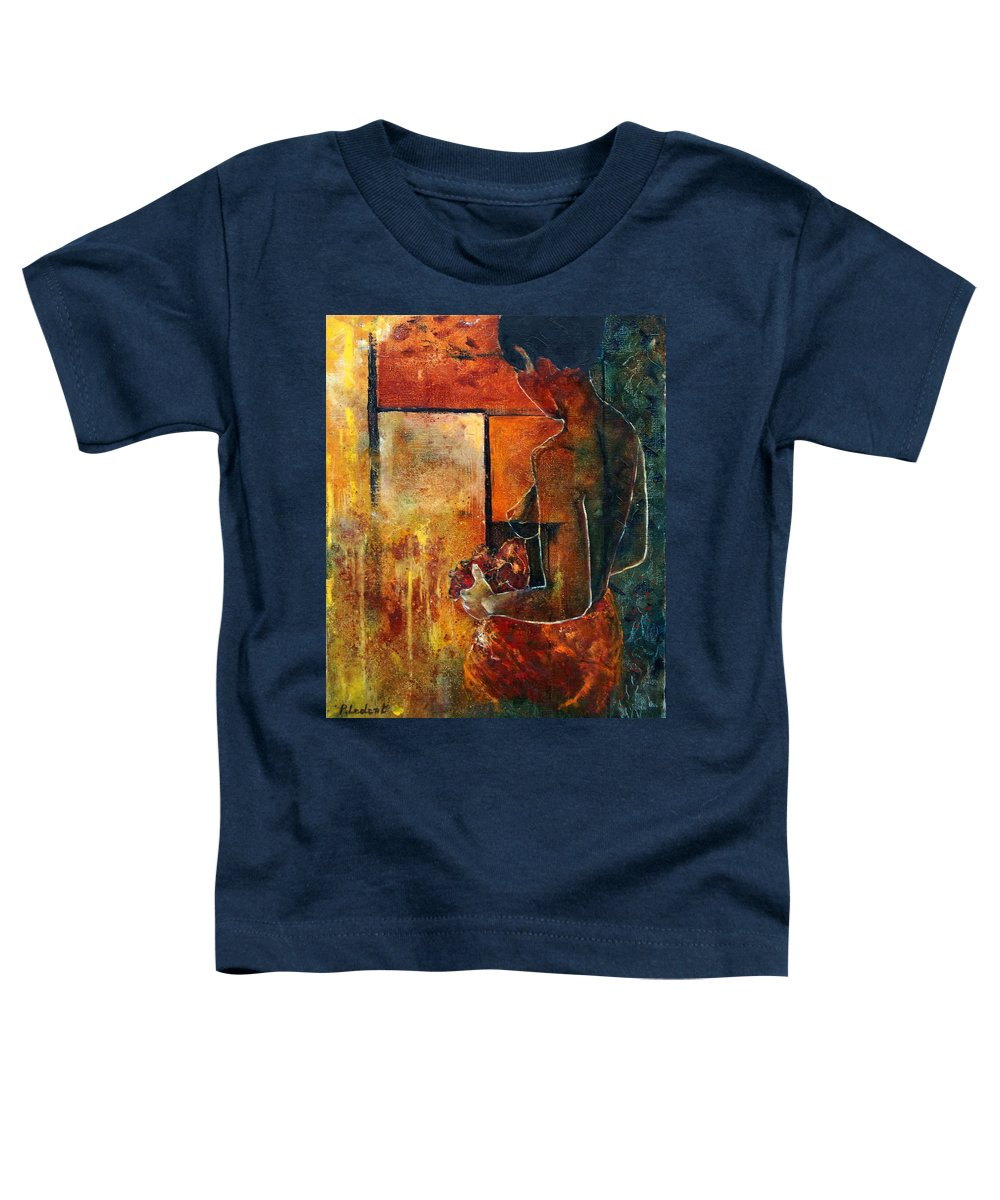 Woman Girl Fashion Nude Toddler T-Shirt featuring the painting Nude by Pol Ledent