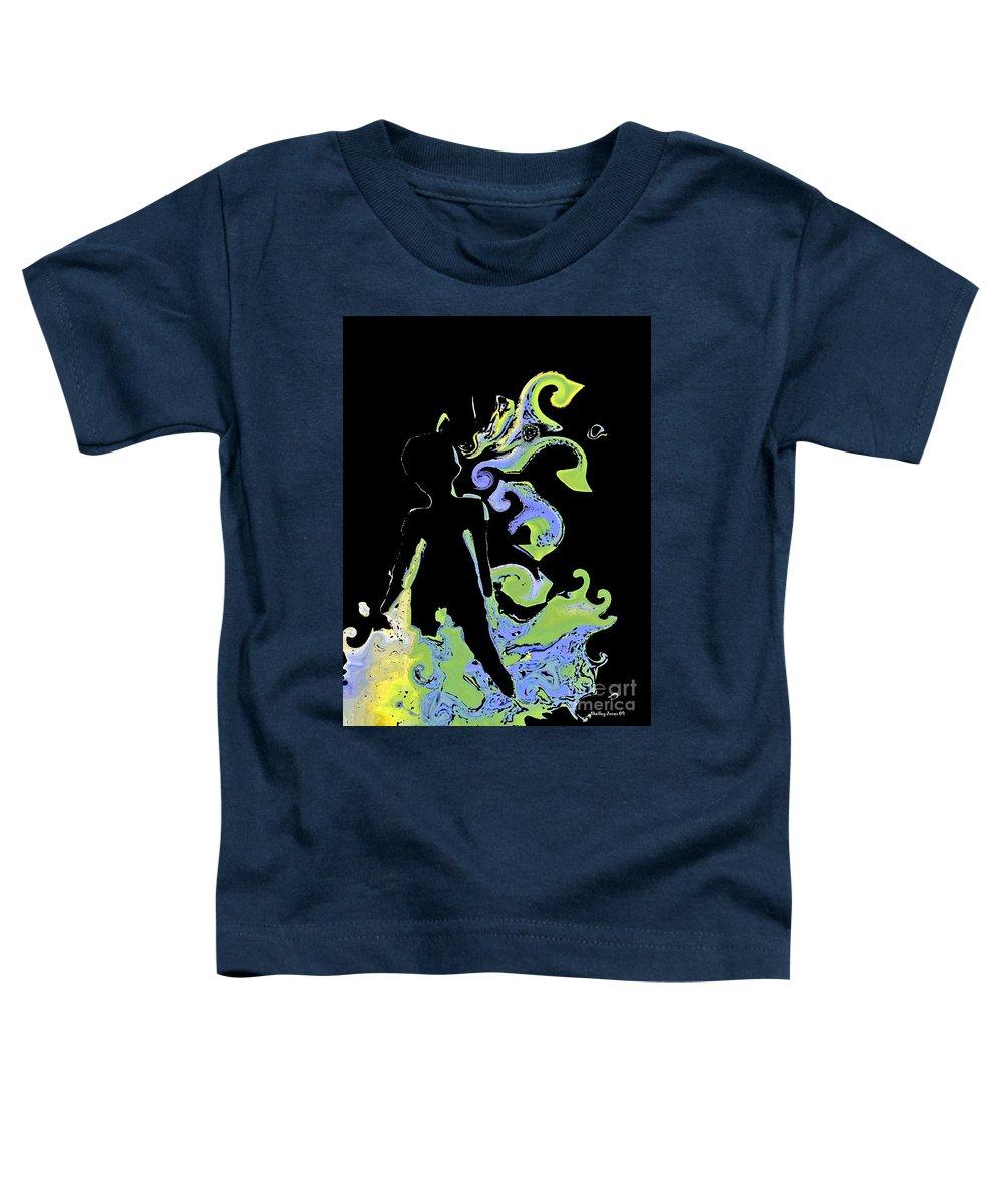 Ocean Toddler T-Shirt featuring the digital art Ocean by Shelley Jones
