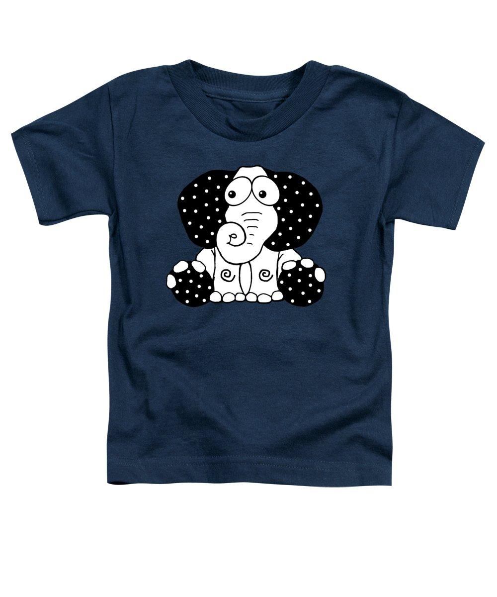 African Elephant Digital Art Toddler T-Shirts