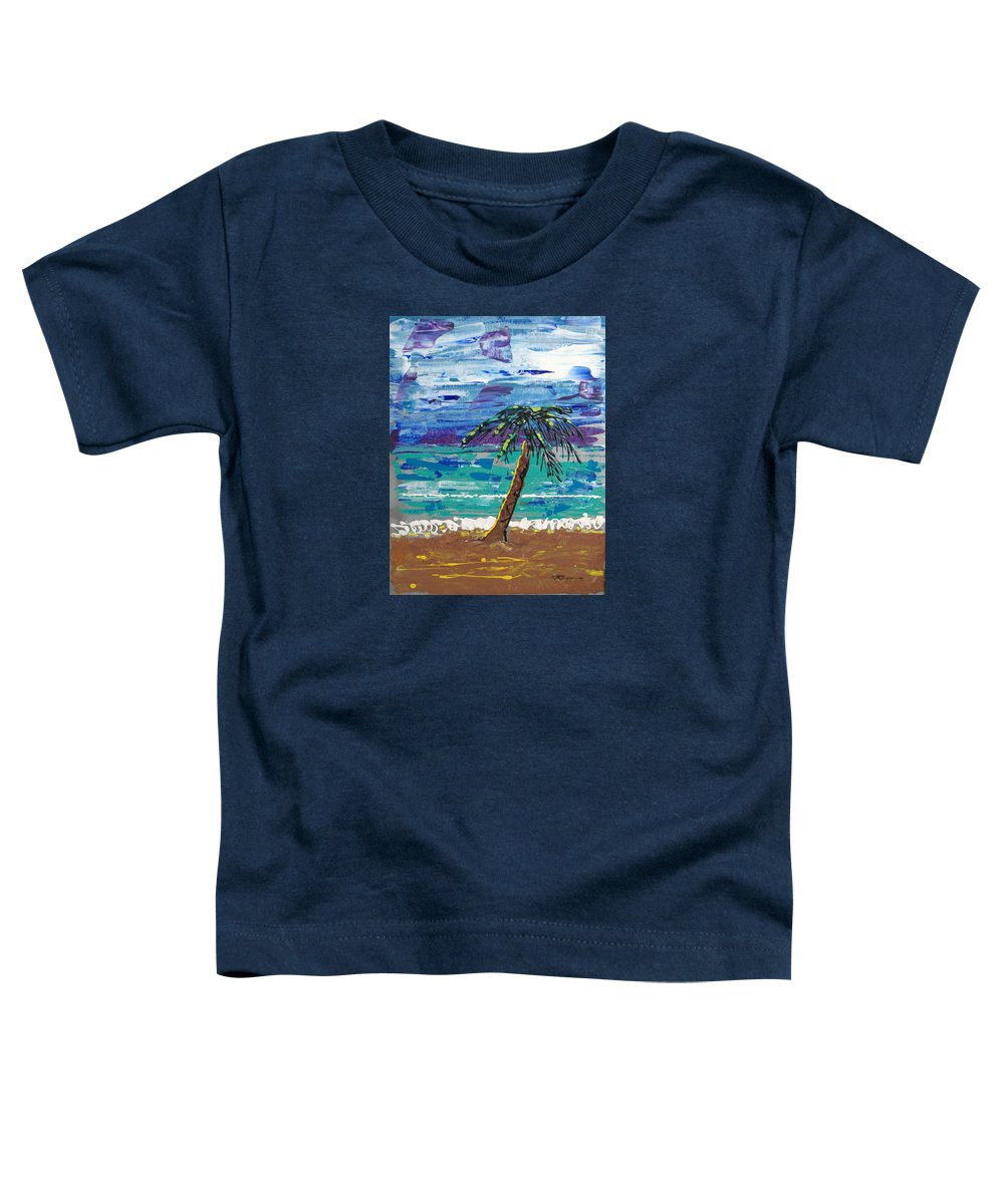 Palm Tree Toddler T-Shirt featuring the painting Palm Beach by J R Seymour