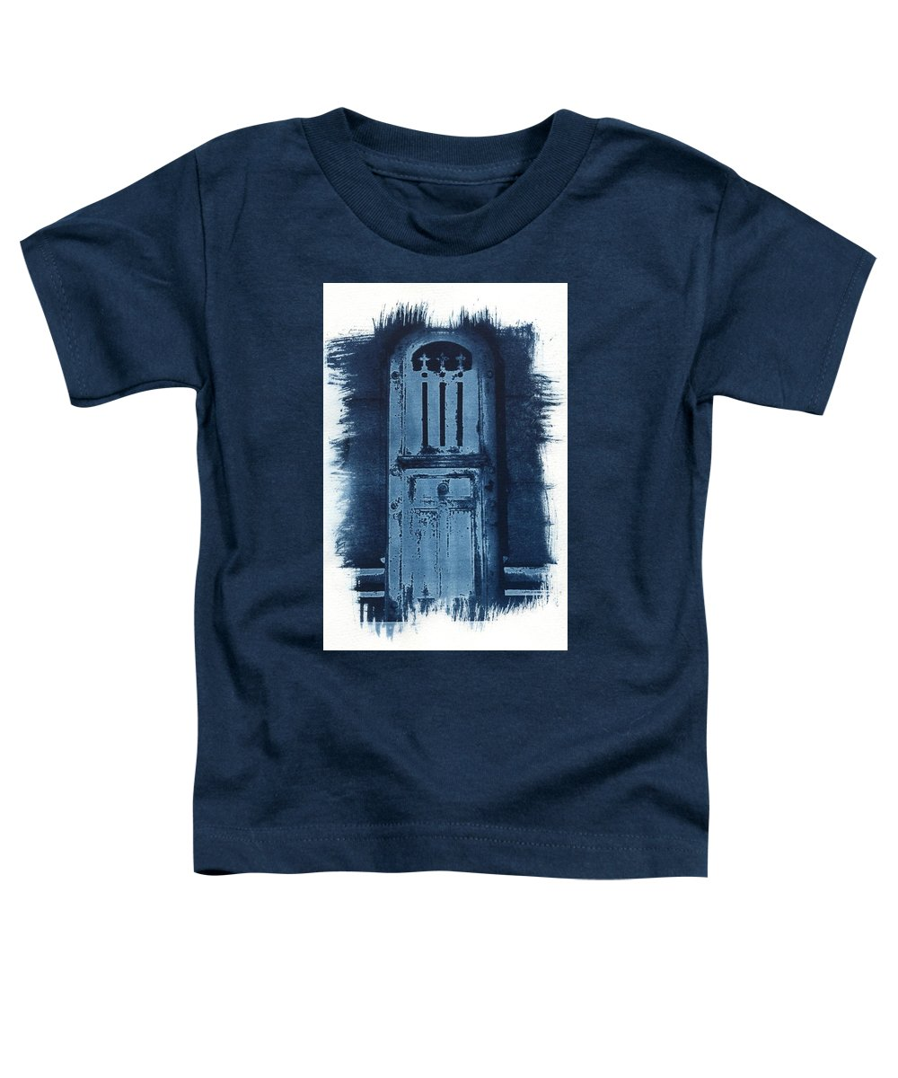Cyanotype Toddler T-Shirt featuring the photograph Portals by Jane Linders