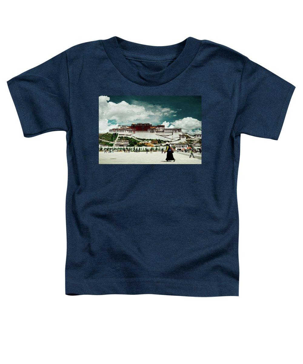 Tibet Toddler T-Shirt featuring the photograph Potala Palace. Lhasa, Tibet. Yantra.lv by Raimond Klavins