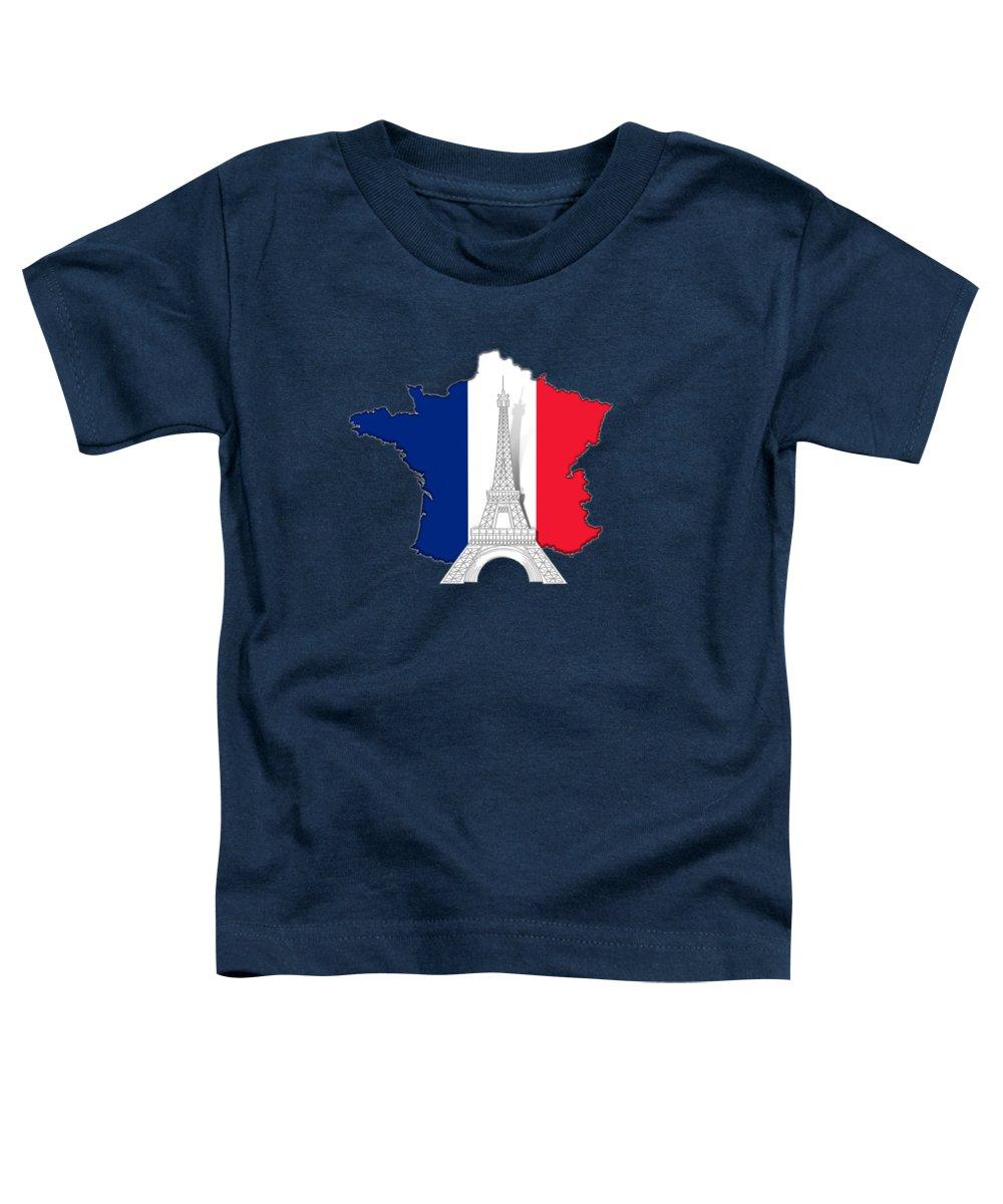 Paris Toddler T-Shirt featuring the digital art Pray For Paris by Peter Awax
