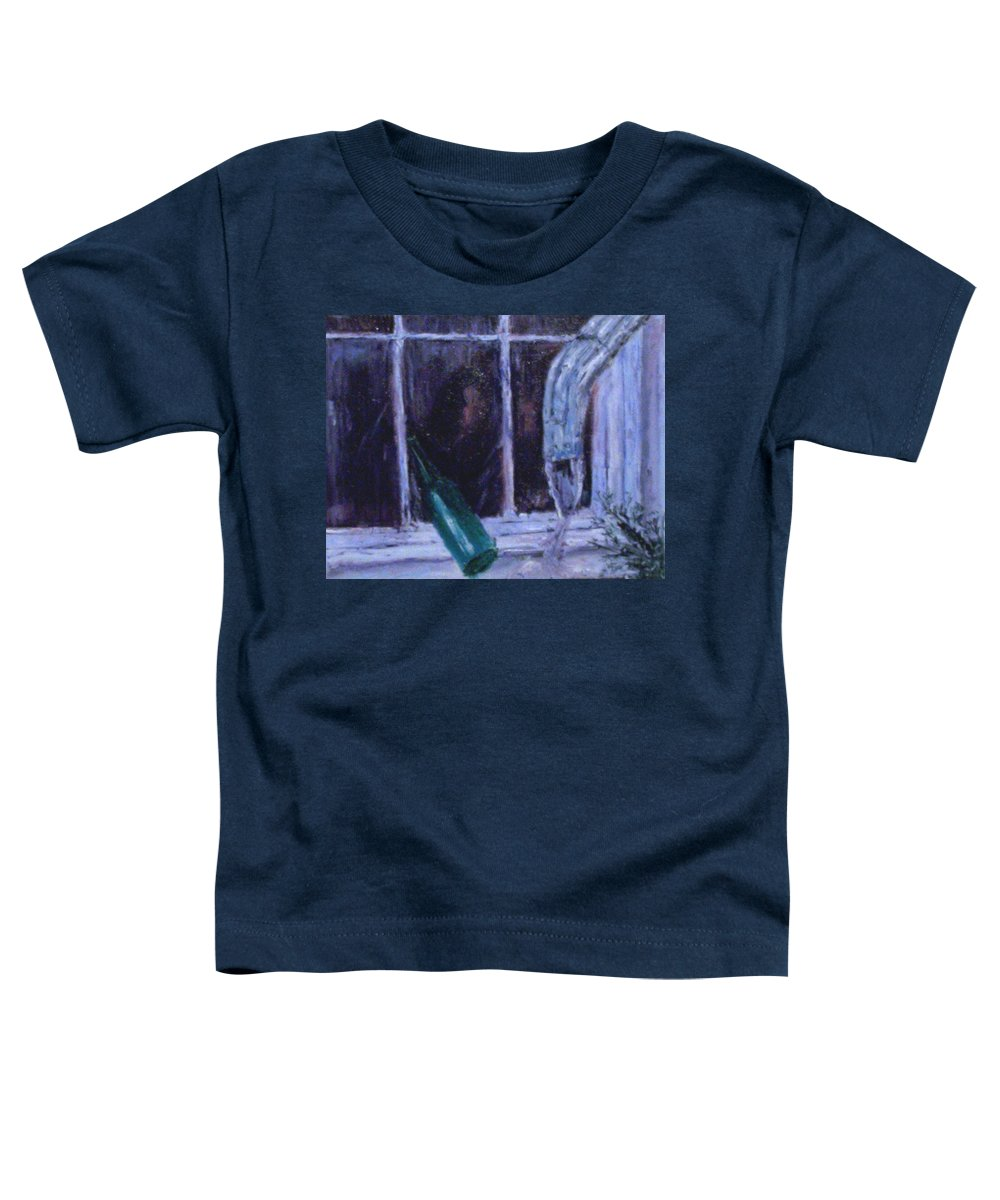 Original Toddler T-Shirt featuring the painting Rainy Day by Stephen King