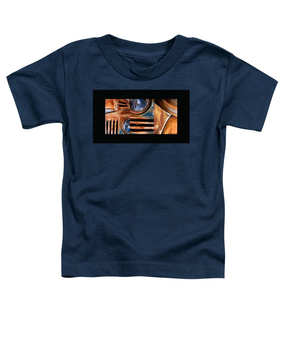 Abstract Photo Of Chevy Truck Toddler T-Shirt featuring the photograph Red Head On by Steve Karol