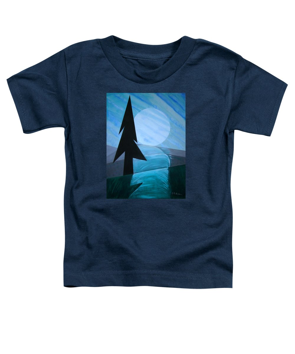Phases Of The Moon Toddler T-Shirt featuring the painting Reflections On The Day by J R Seymour