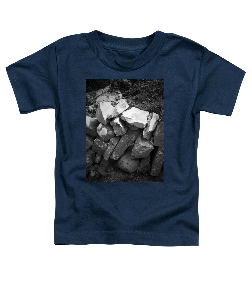 Irish Toddler T-Shirt featuring the photograph Rock Wall Doolin Ireland by Teresa Mucha