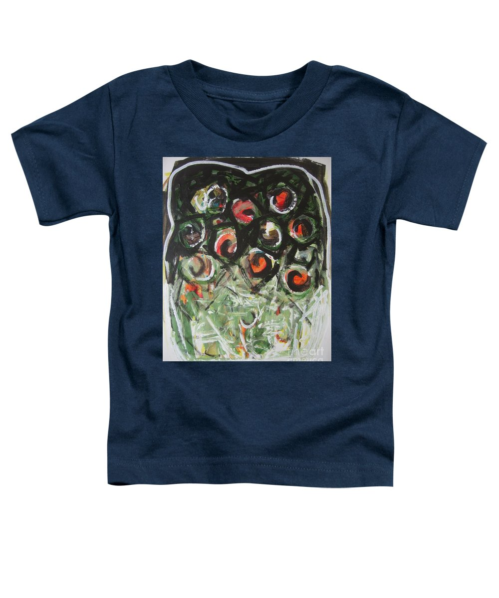 Abstract Painting Toddler T-Shirt featuring the painting Roses by Seon-Jeong Kim