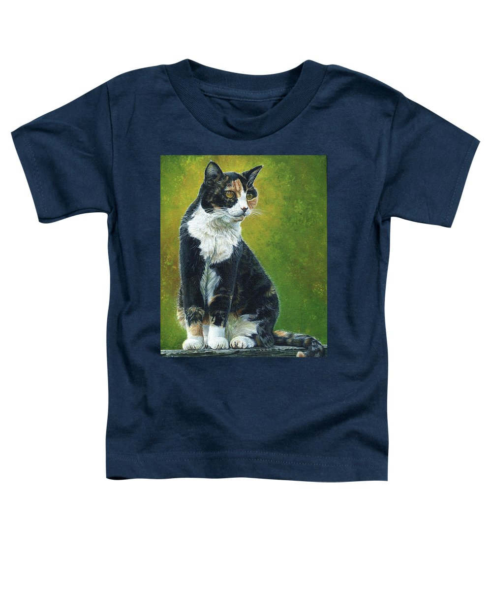 Sassy Toddler T-Shirt featuring the painting Sassy by Cara Bevan