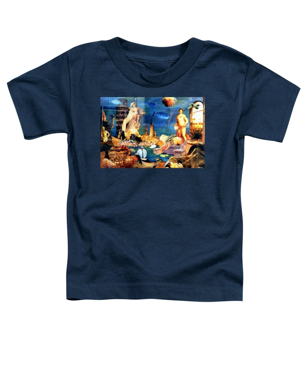 Fantasy Toddler T-Shirt featuring the painting Sea Garden by Gail Kirtz