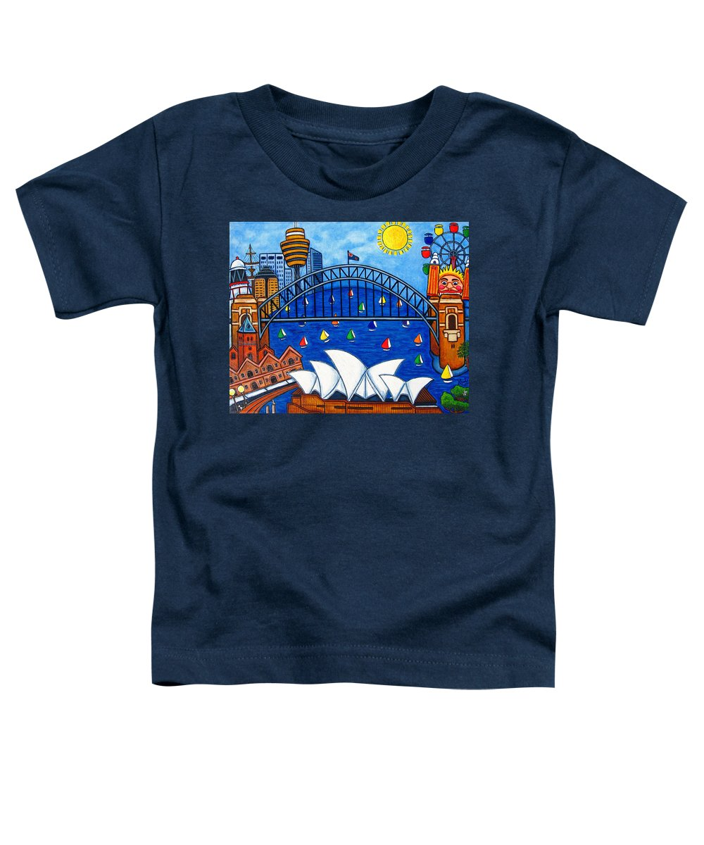 House Toddler T-Shirt featuring the painting Sensational Sydney by Lisa Lorenz