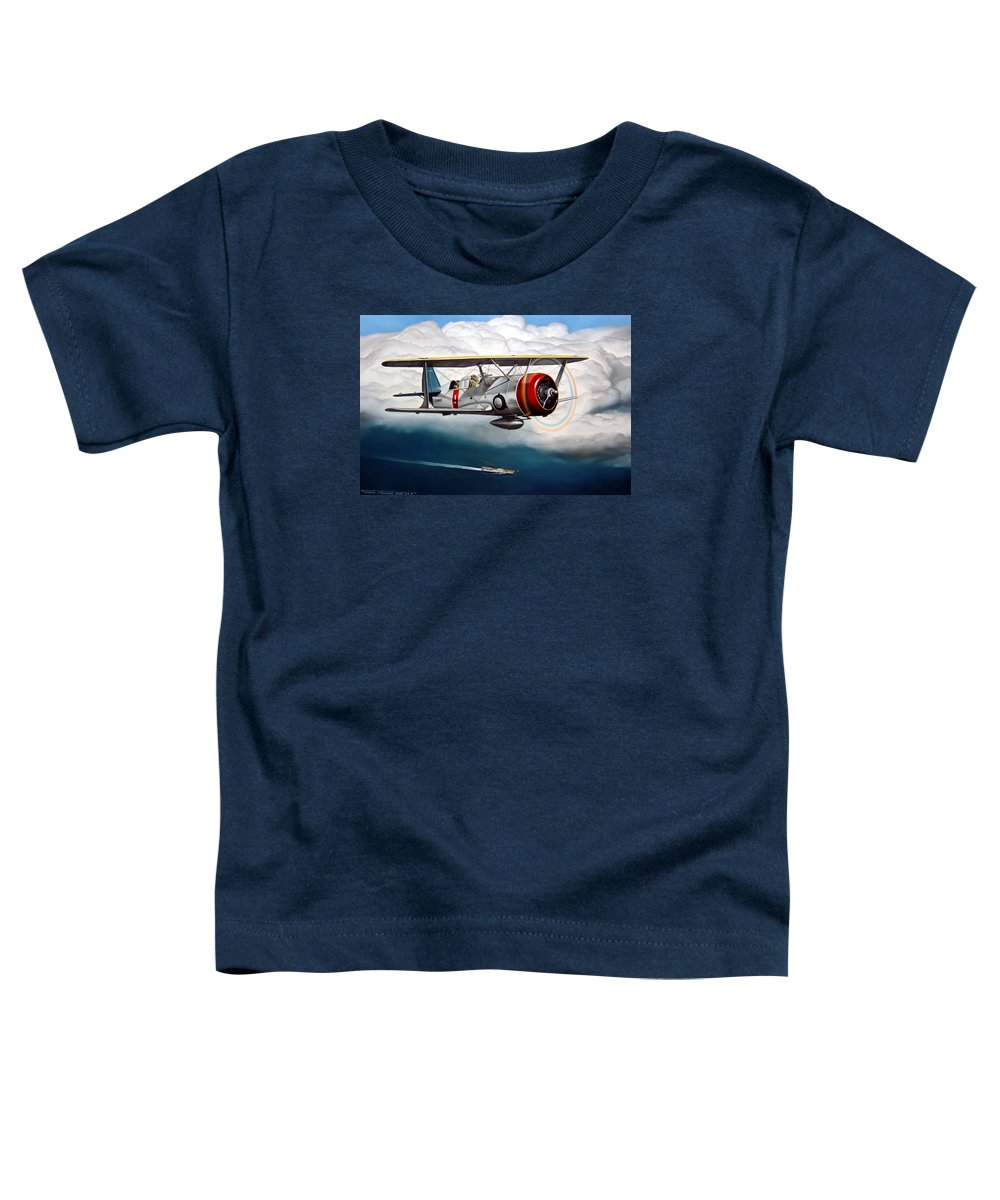 Aviation Toddler T-Shirt featuring the painting Shakedown Cruise by Marc Stewart