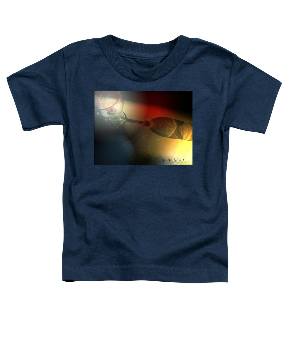 Fantasy Toddler T-Shirt featuring the photograph Solitude A Deux by Miki De Goodaboom
