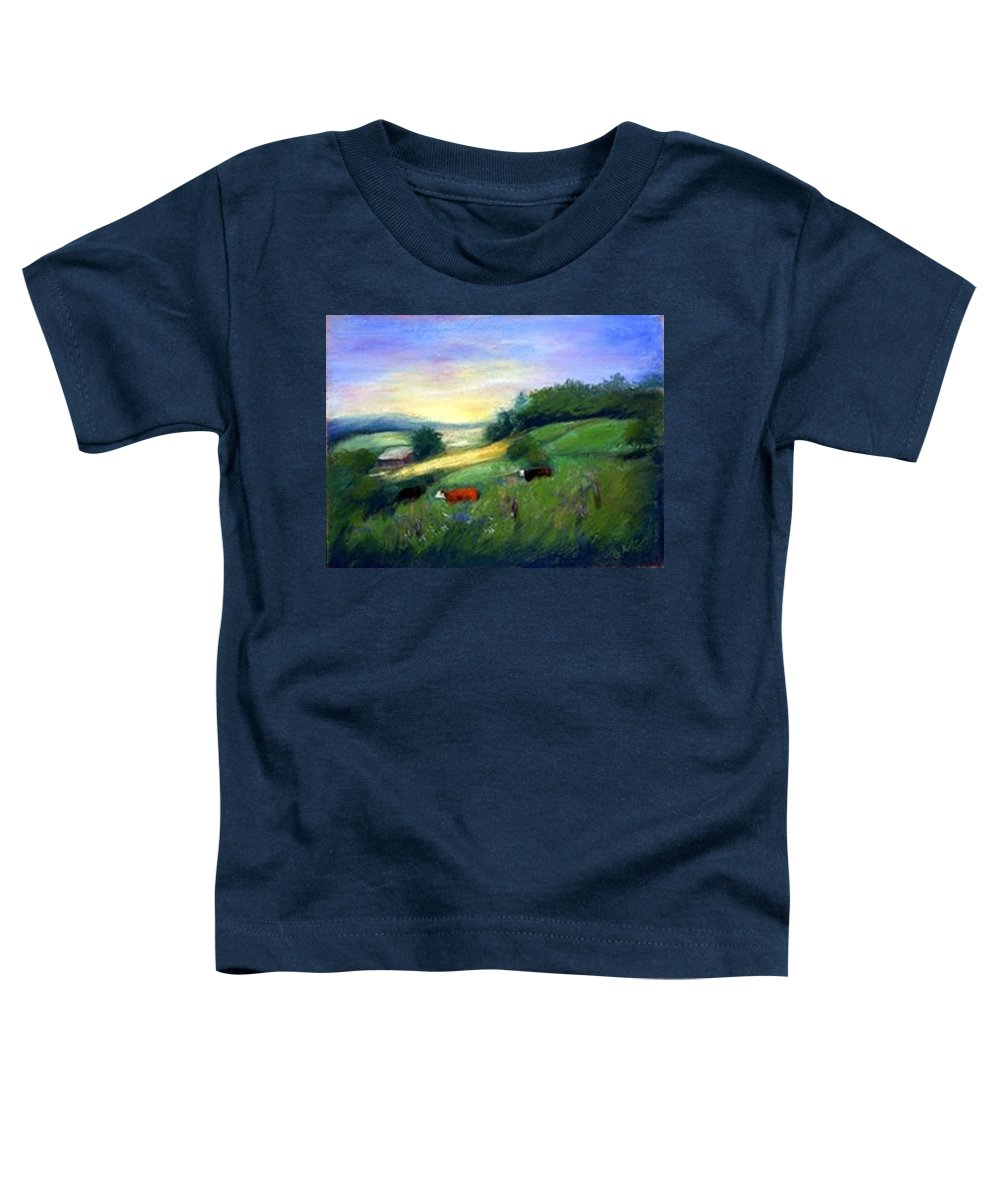 Landscape Toddler T-Shirt featuring the painting Southern Ohio Farm by Gail Kirtz