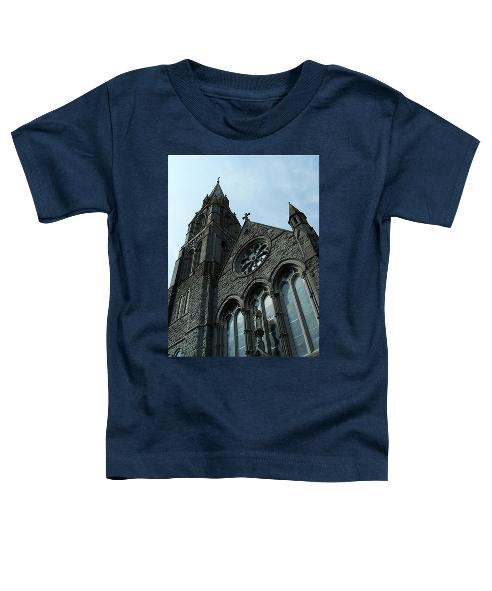 Ireland Toddler T-Shirt featuring the photograph St. Mary's Of The Rosary Catholic Church by Teresa Mucha