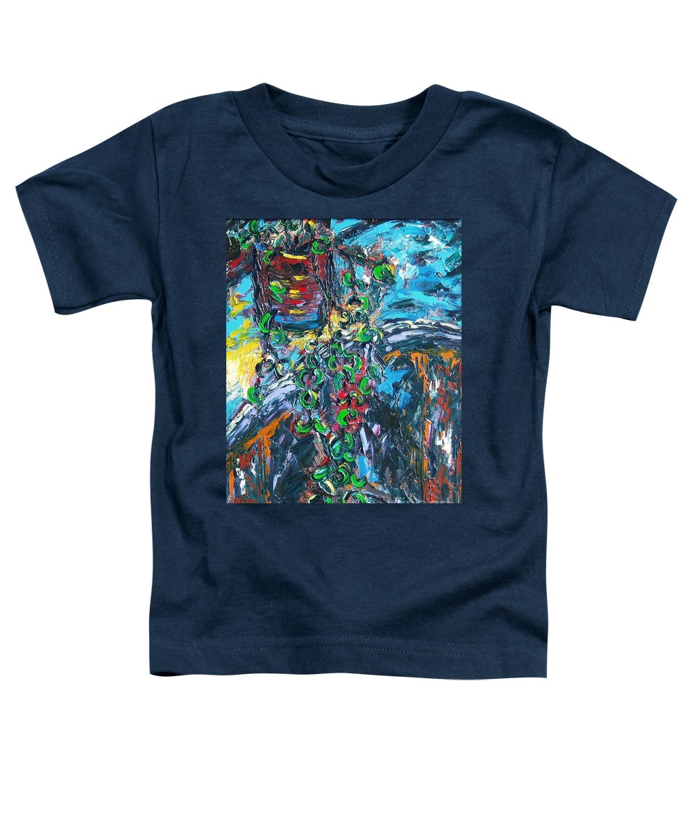 Abstract Paintings Toddler T-Shirt featuring the painting Still Life by Seon-Jeong Kim