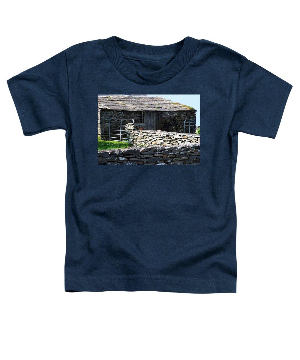 Irish Toddler T-Shirt featuring the photograph Stone Barn Doolin Ireland by Teresa Mucha
