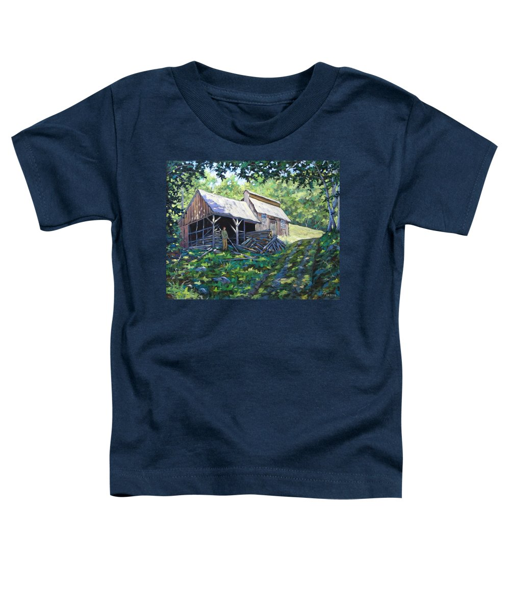 Sugar Shack Toddler T-Shirt featuring the painting Sugar Shack In July by Richard T Pranke