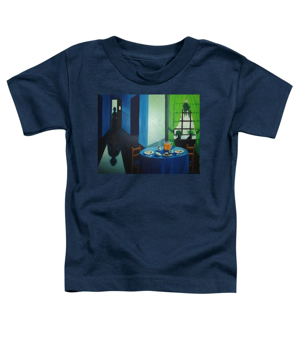 Breakfast Toddler T-Shirt featuring the painting Sunday Morning Breakfast by Nancy Mueller