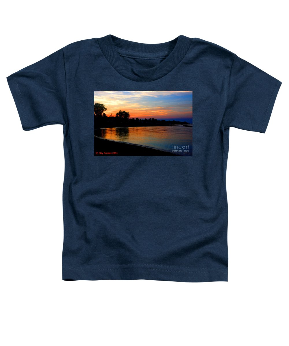 Clay Toddler T-Shirt featuring the photograph Sunset At Colonial Beach Cove by Clayton Bruster