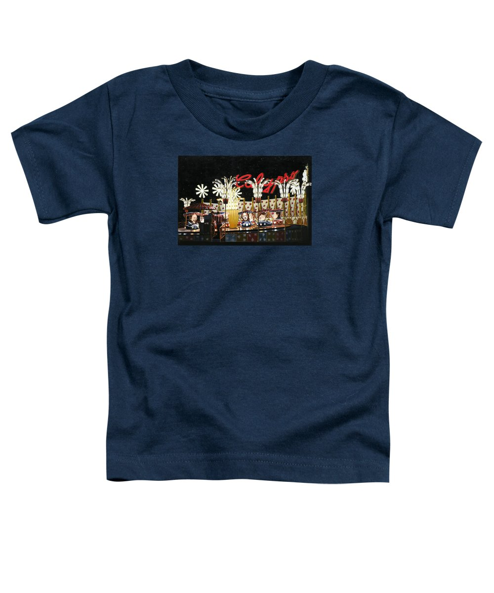 Surreal Toddler T-Shirt featuring the painting Surreal Carnival by Dave Martsolf