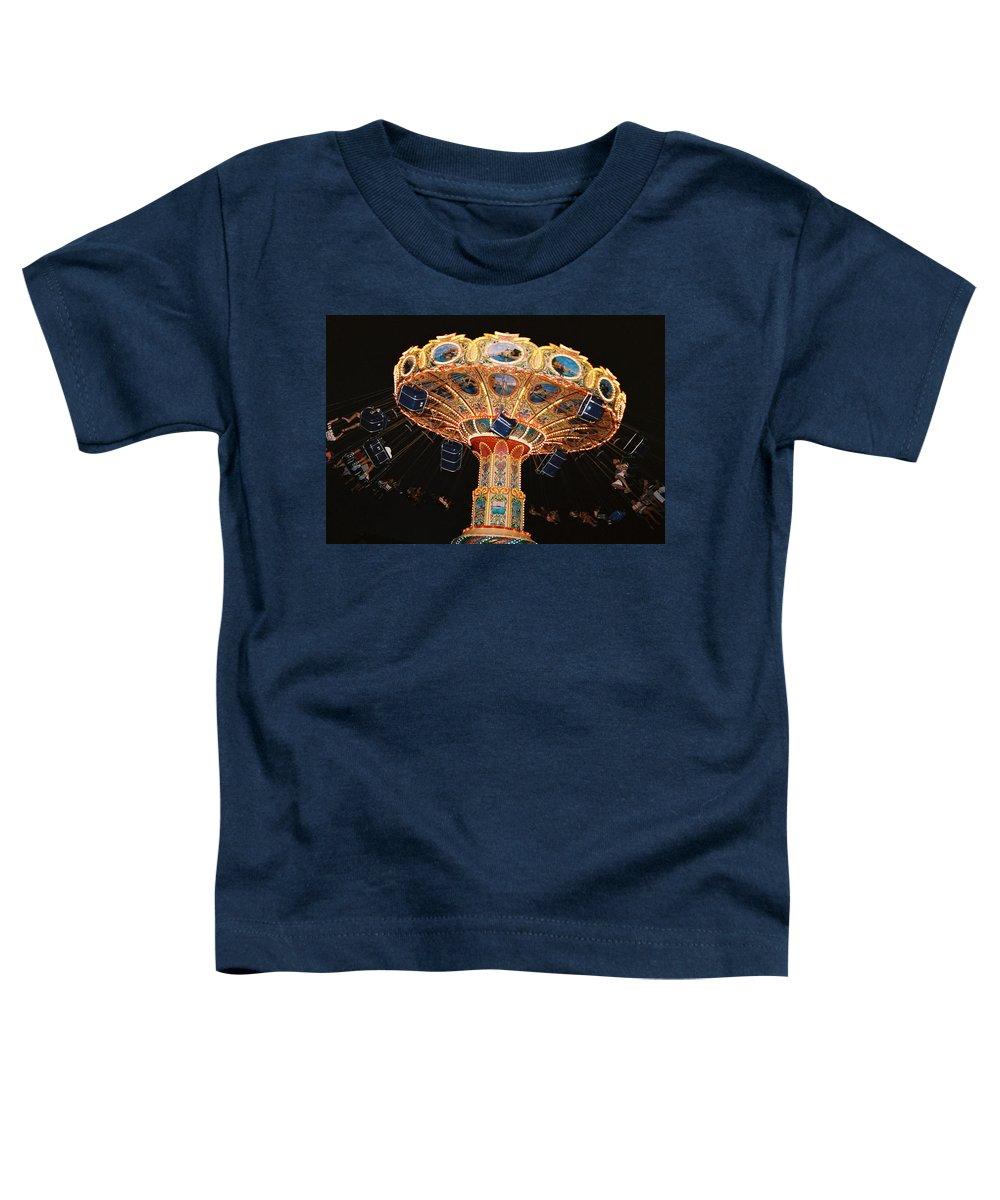 Boardwalk Toddler T-Shirt featuring the photograph Swing by Steve Karol