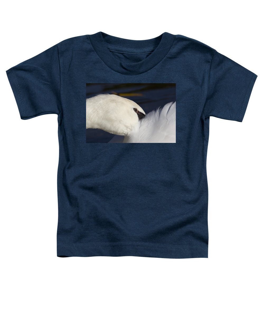 Swan Toddler T-Shirt featuring the photograph The Abstract Swan by David Pyatt